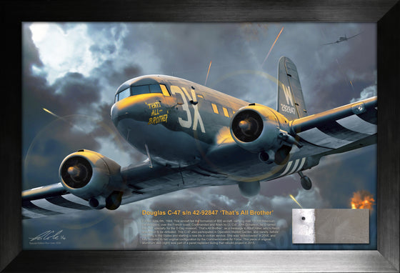 D-Day Invasion Lead Aircraft: Douglas C-47 'That's All Brother' Relic Display