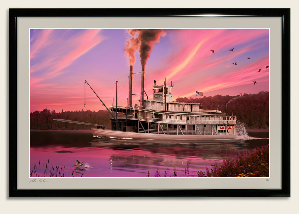 River Steamship Lorena on the Muskingum River c. 1910 by Ron Cole