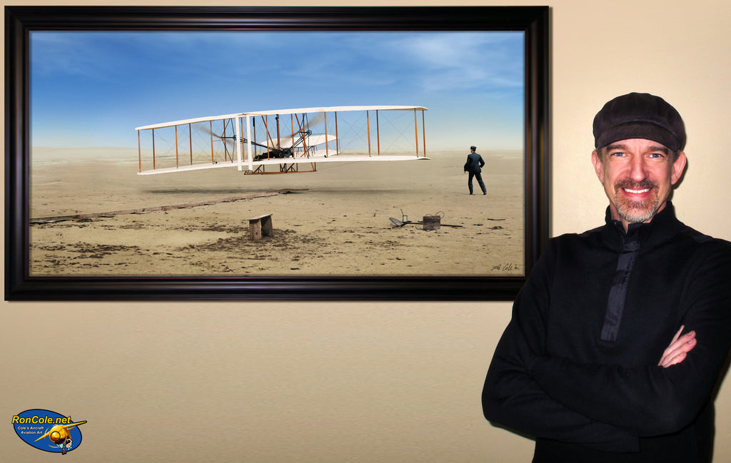 First in Flight - First Flight of the Wright Flyer, by Ron Cole - Cole's Aircraft - 8