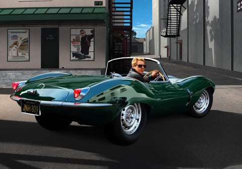Steve McQueen 1957 Jaguar XKSS Hollywood Studio - Cole's Aircraft - 1