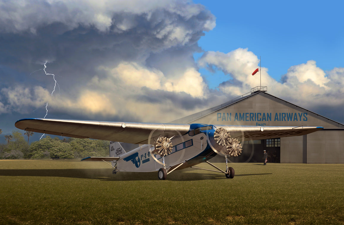 Pan Am Airlines Ford Trimotor in Miami - Cole's Aircraft - 1