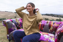 Load image into Gallery viewer, One Ten Willow Long Sleeve Split Top