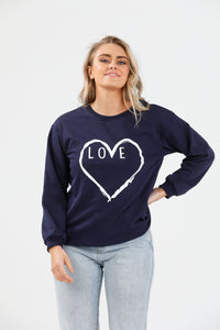 Brave + True Henley Sweat - Love Actually