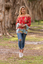 Load image into Gallery viewer, Boho 'Shyla' Off Shoulder Top