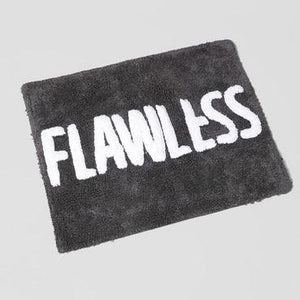 Holiday Home Bathmats - Charcoal & Off White