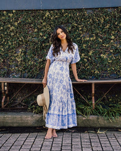 White Closet Maxi Dress - Blue Veronika