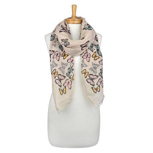 Taylor Hill Multi-colour Butterfly Scarf