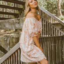 Load image into Gallery viewer, Ebby & I Smock Dress - Cabana Peach