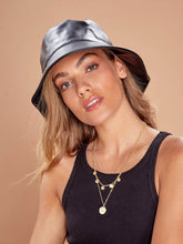 Load image into Gallery viewer, Angels Whisper 'Hazel' Leather Look Bucket Hat - Black
