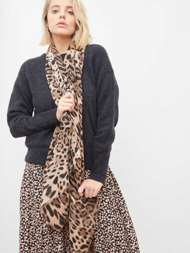 Angels Whisper 'Odalis' Light Weight Scarf - Leopard Print