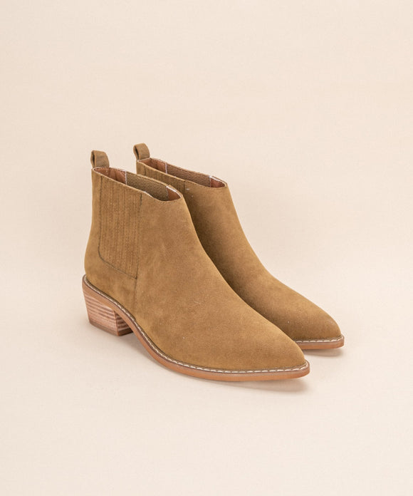 Camel Ankle Bootie