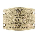 """Faith"" Large Sentiment - Antique Brass"