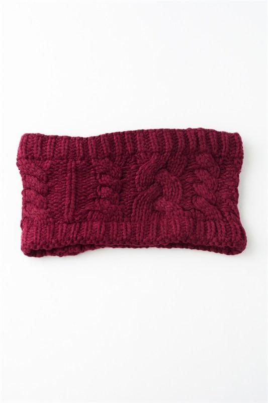 Burgundy Knit Headband