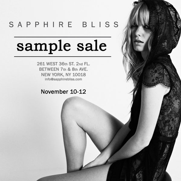 Our 1st Sample Sale in NYC