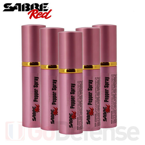 Pack Spray Poivre SABRE RED Lipstick 20 ml Rose X5