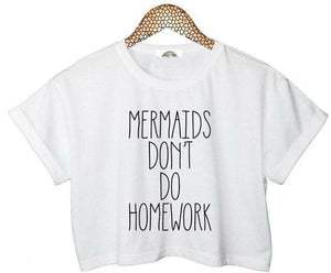 Mermaid Crop Top Short