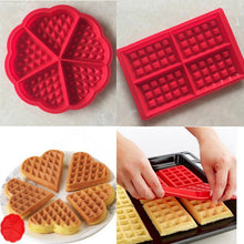 Load image into Gallery viewer, Silicone Waffle Maker Baking Mold