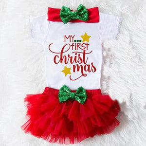 My First Christmas Baby Girls Clothes