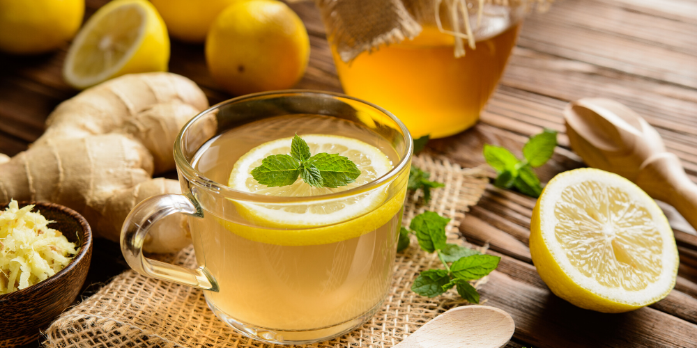 green tea with lemon - kadambari tea - lemon tea