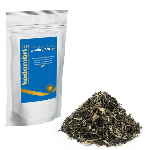 kadambari teas - natural flavoured green teas online - ajwain tea