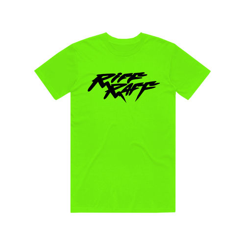 RiFF RAFF LOGO T-SHiRT - NEON AND BLACK