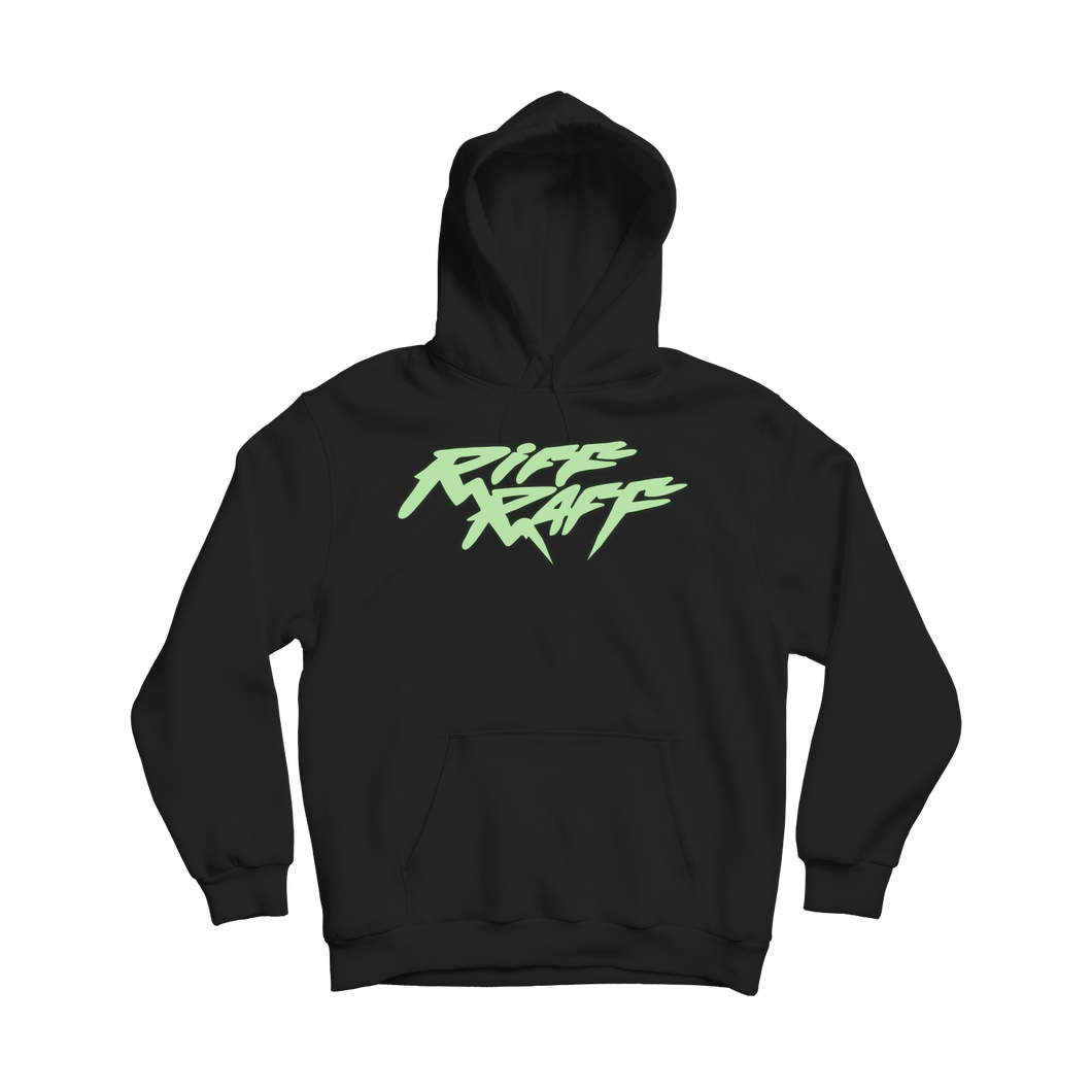 RiFF RAFF LOGO HOODiE - BLACK (GLOW-IN-THE-DARK)