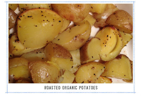 organic roasted baby golden potatoes