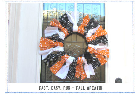 Fall Fabric DIY Wreath