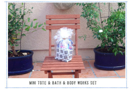 win bath and body works & mini tote