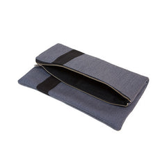 Foldover Clutch {Cadet Grey}