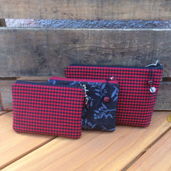 Zipper Pouches {Check + Berry}