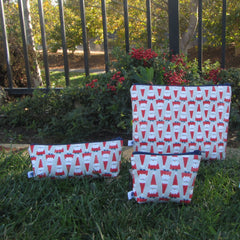Zipper Pouches {Santa}
