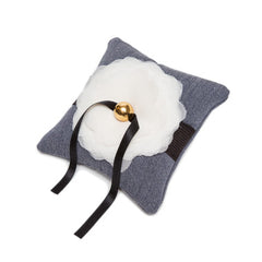Supe's Garden Ring Pillow  {Cadet Grey}