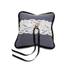 Flirtation Point Ring Pillow  {Cadet Grey}