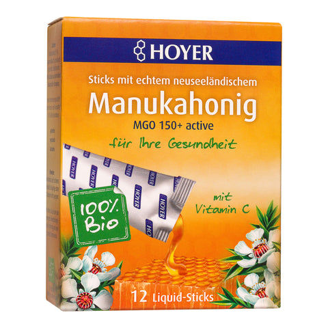 Hoyer Sticks de miel de manuka bio