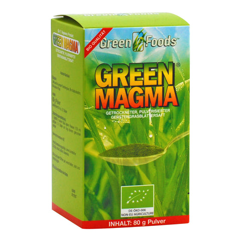 Green Foods Green Magma Extrait d'herbe d'orge bio, poudre