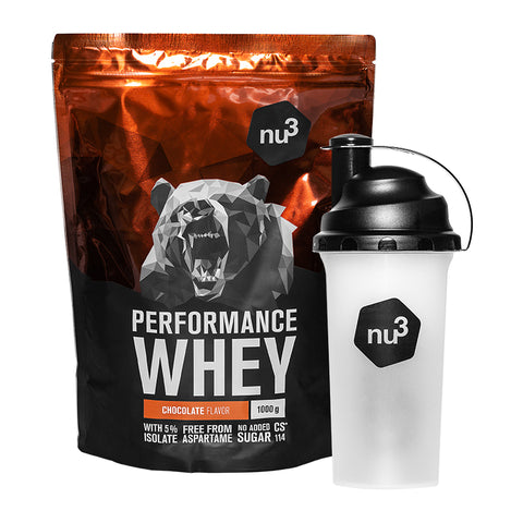 nu3 Whey Performance + Shaker