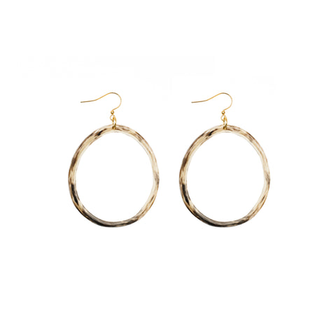 Cattle Horn Hoop Earrings