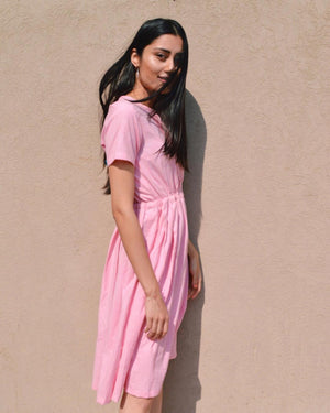 Pleated Pink Dress
