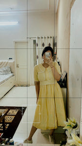 Double Pocket Yellow Dress