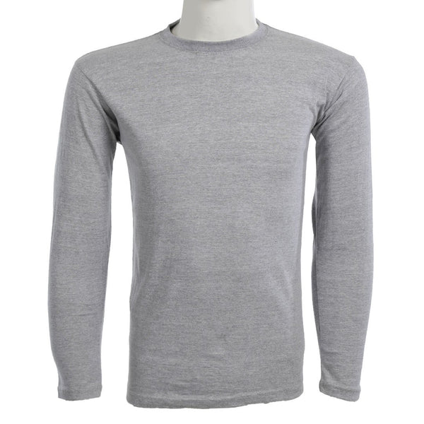 Teemoji Full Sleeves Light Grey Shirt