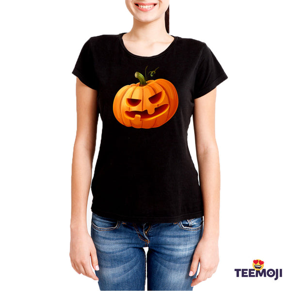 Teemoji Halloween Pumpkin Black