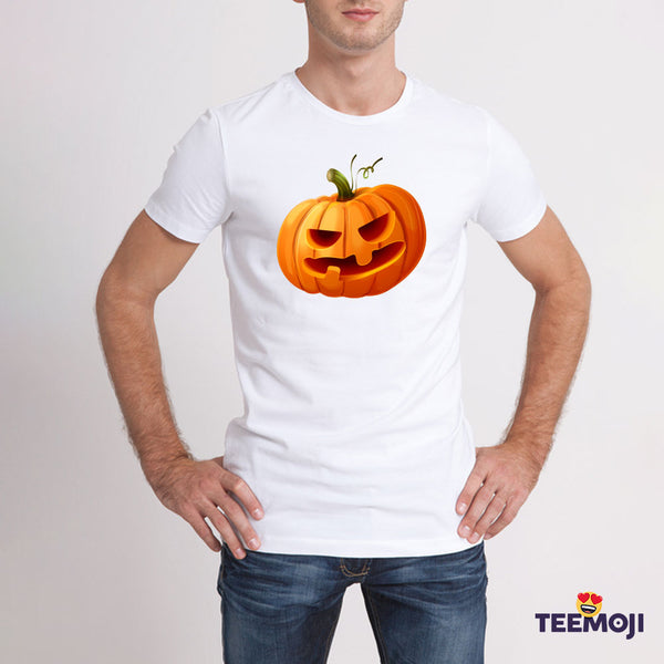 Teemoji Halloween Pumpkin White