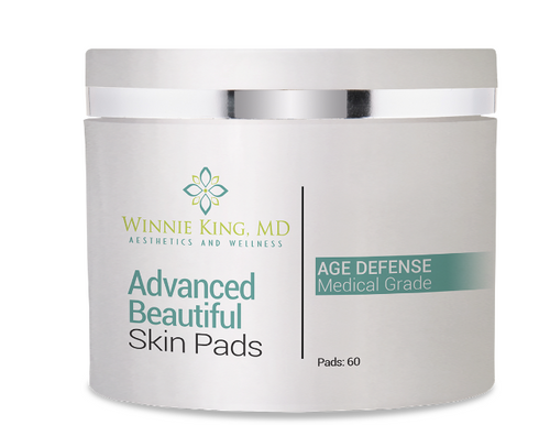 ADVANCED BEAUTIFUL SKIN PADS with 2 to 4% Hydroquinone - TheDrWinnieKingStore.com