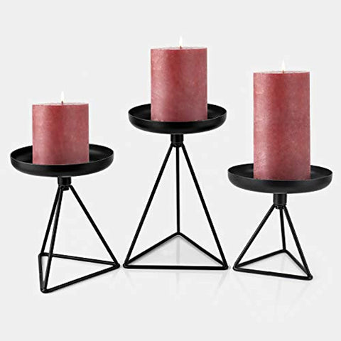 3 Bikoney Pillar CandleHolders