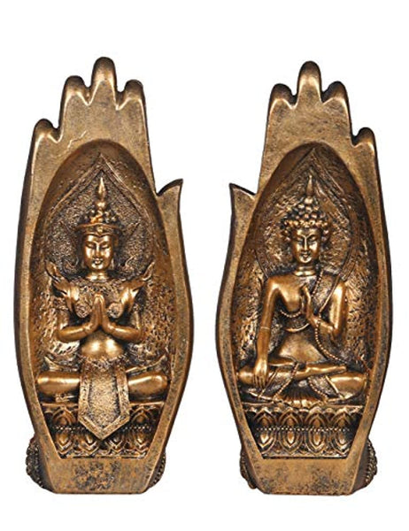 Buddha Sitting in Hand Statue
