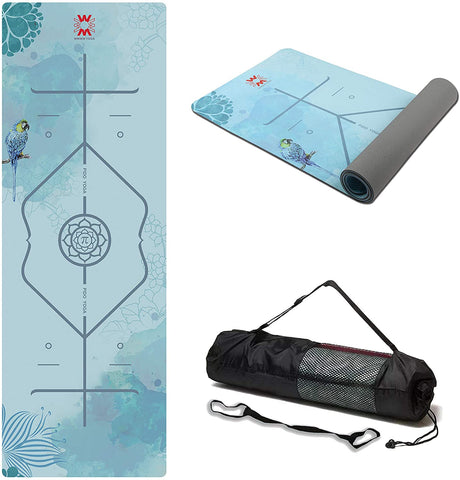 Suede Lotus Yoga Mat Twilight Sky