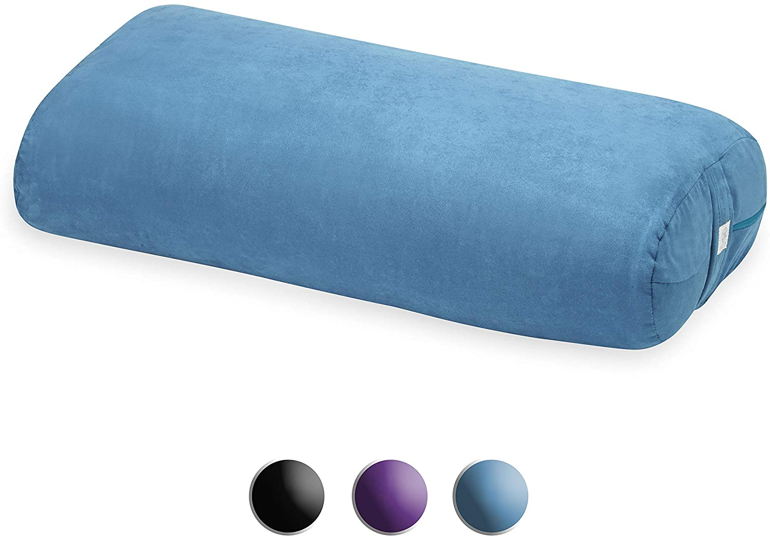Yoga Bolster Rectangular Meditation Pillow Teal