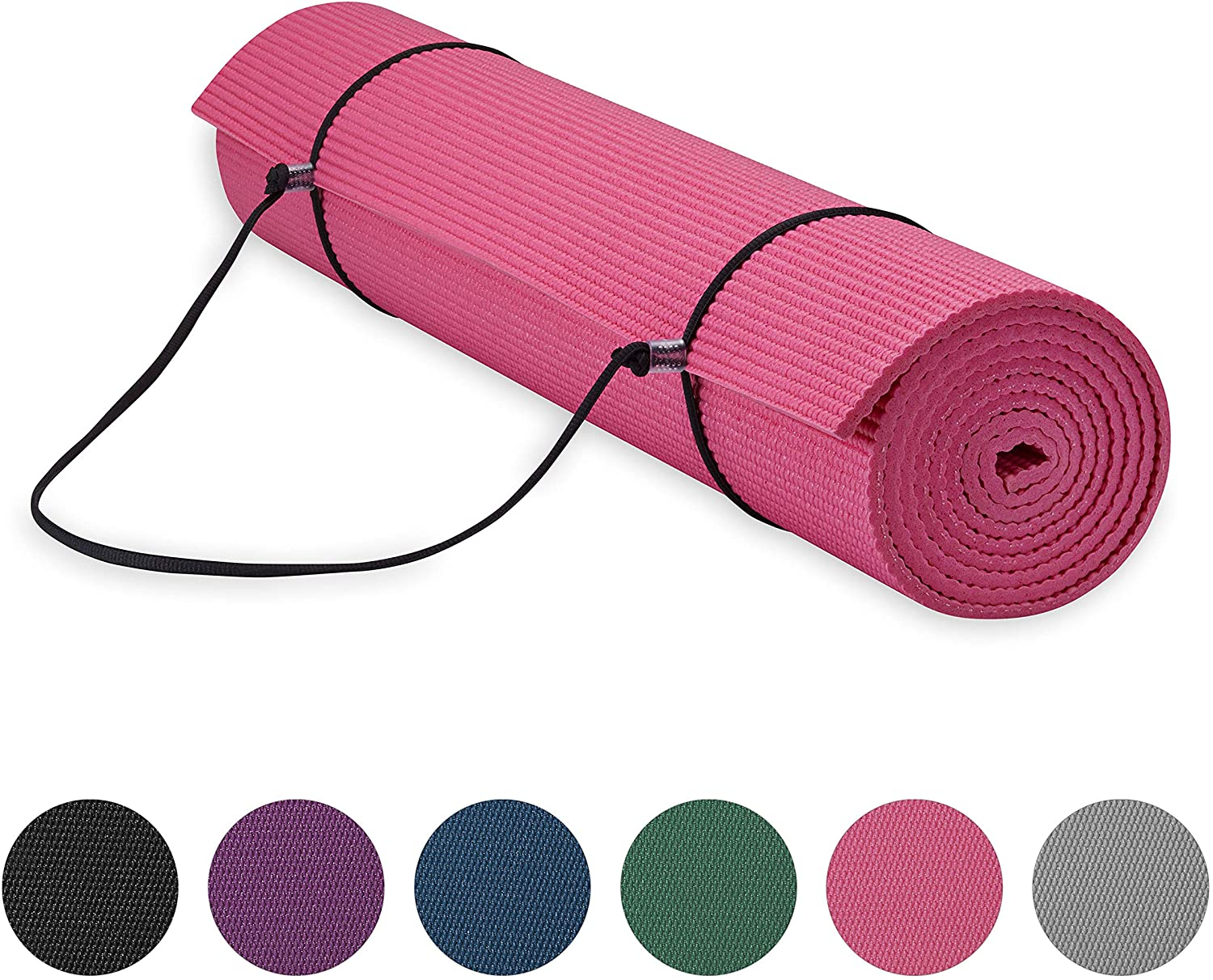 Yoga Mat w/ Carrier Sling Pink