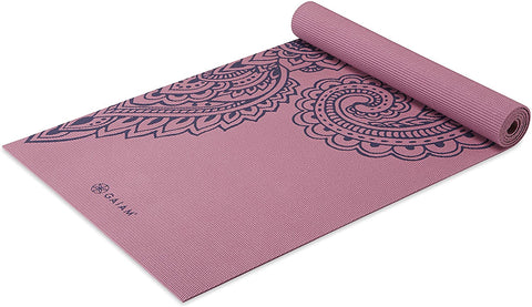 5mm Thick Non Slip Exercise & Fitness Mat  Paisley Tropical